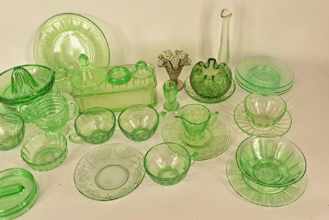 Collection Of Green Depression Glass - 2