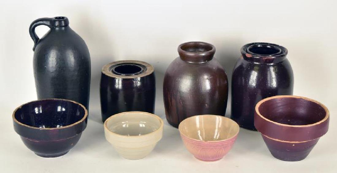 Collection Of Stoneware Bowls And Jugs