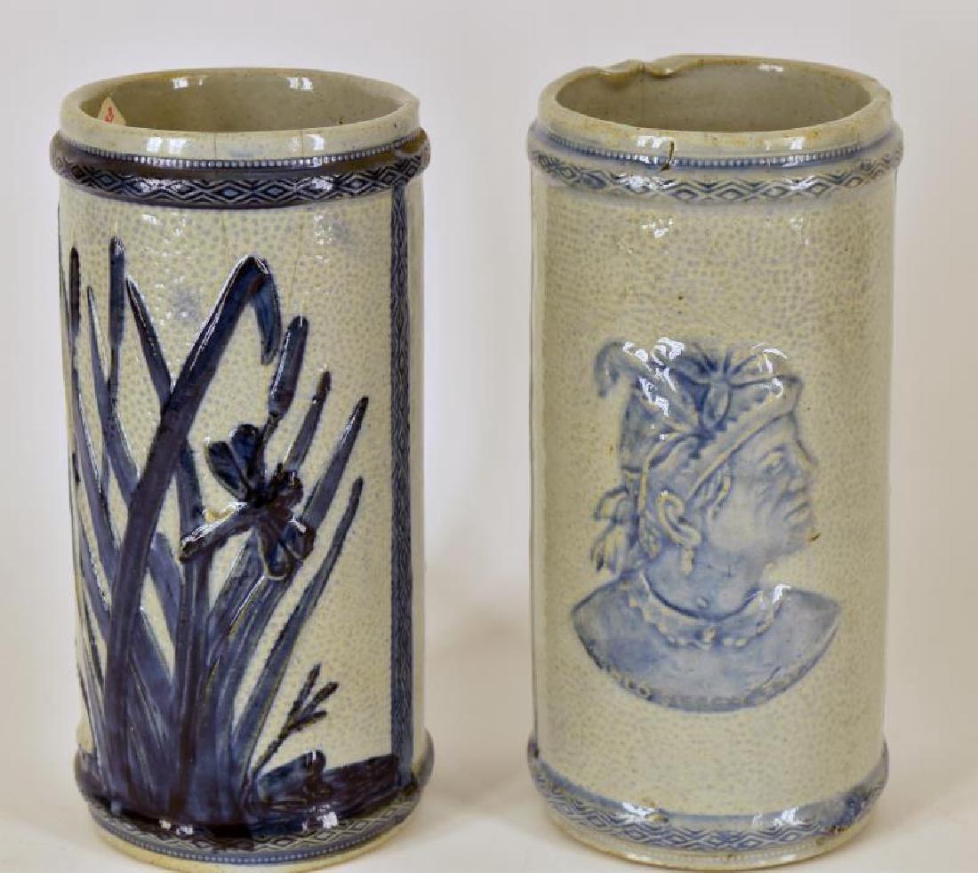 Old Sleepy Eye Flower Vases