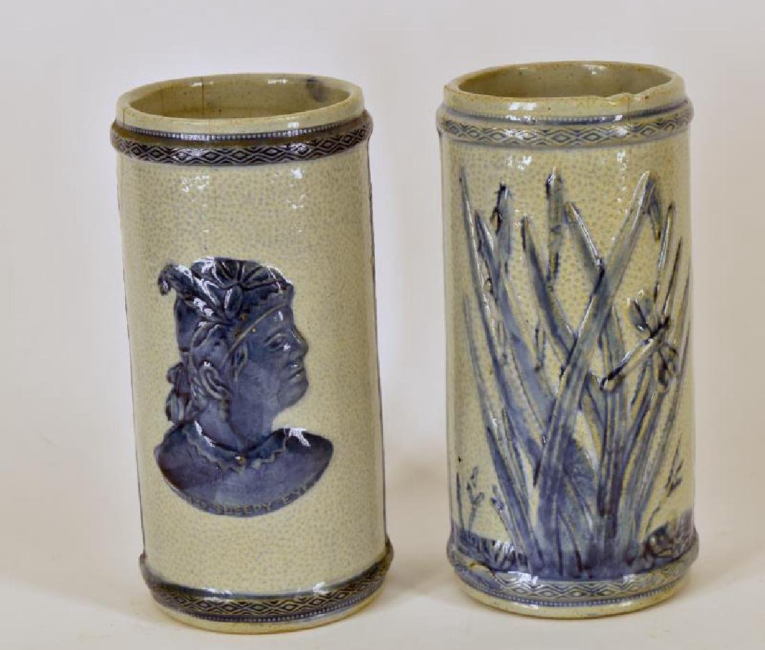 Old Sleepy Eye Flower Vases - 2