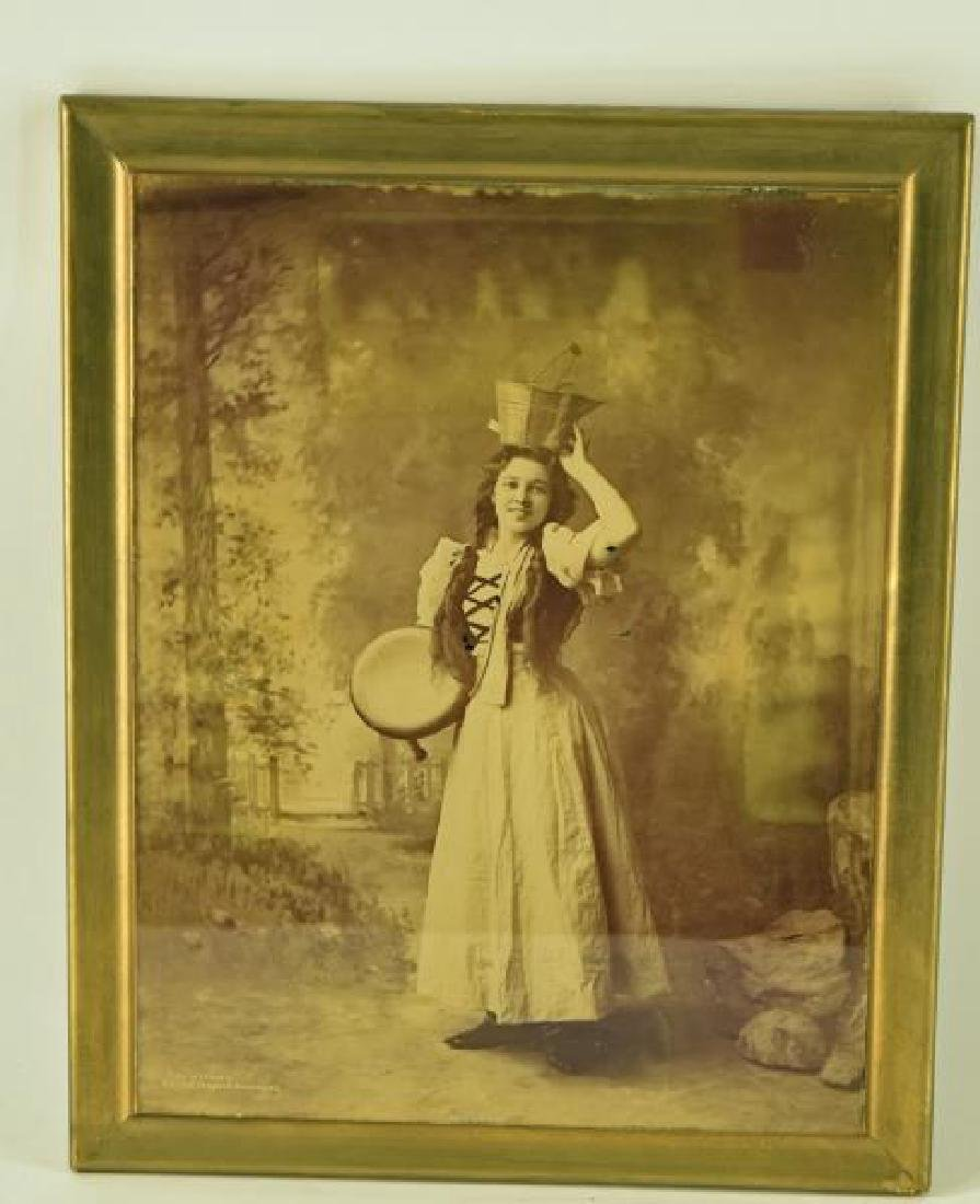Photo On Glass Young Girl With Basket
