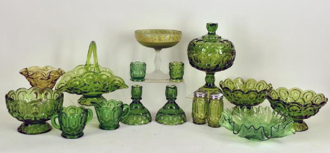Collection Of Forest Green Glassware