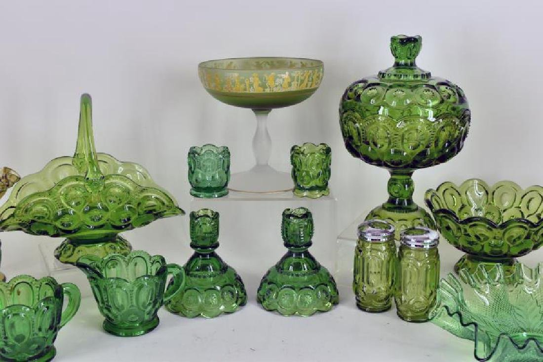 Collection Of Forest Green Glassware - 3