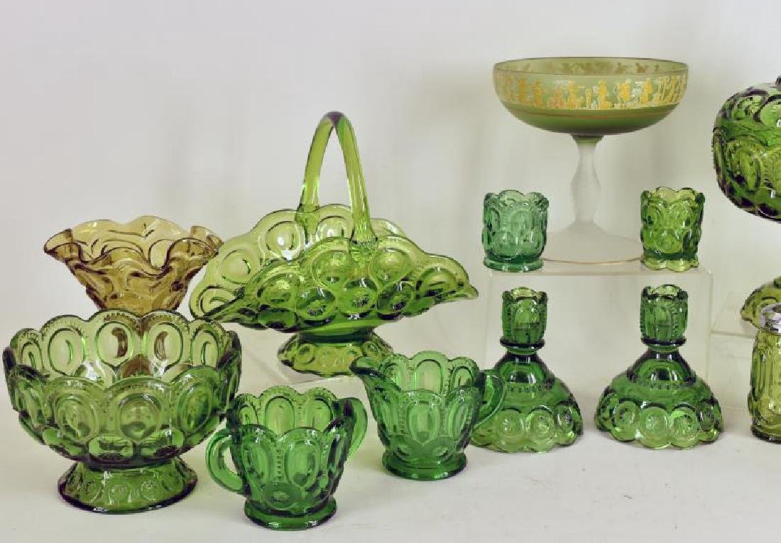 Collection Of Forest Green Glassware - 4