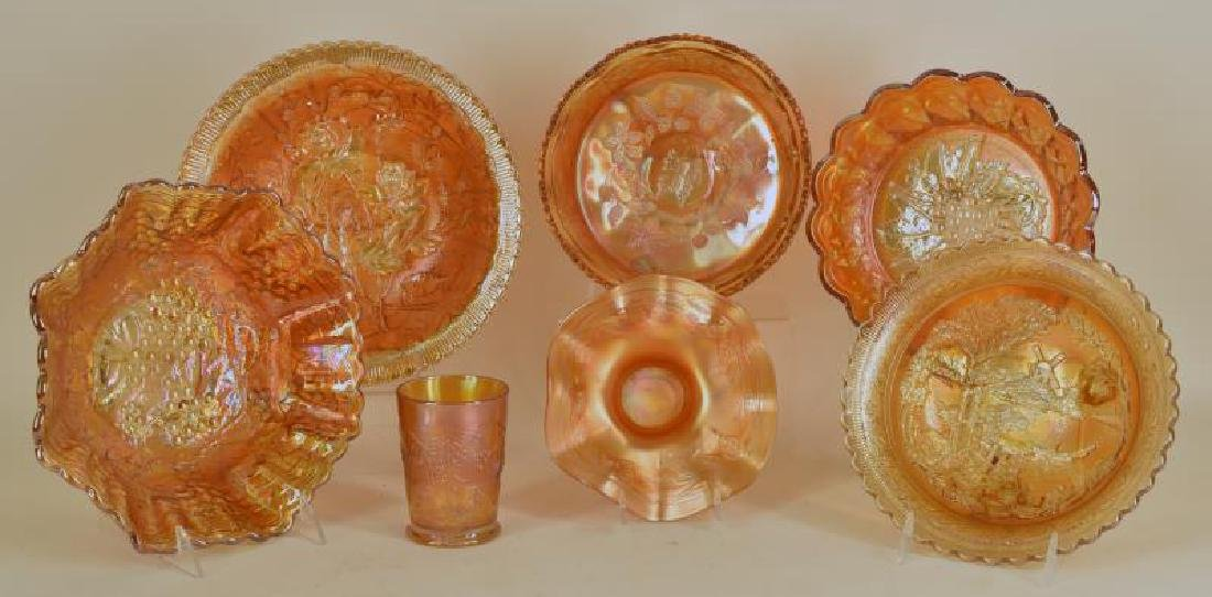 Collection Of Marigold Carnival Glass