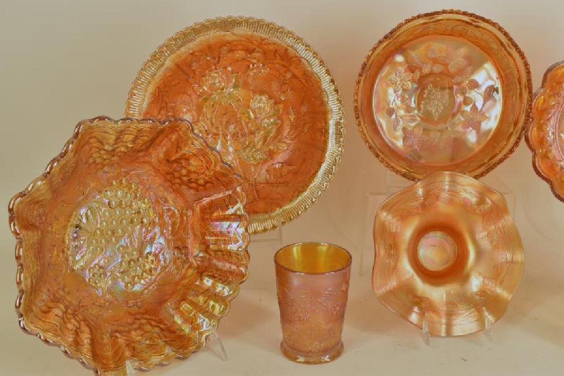 Collection Of Marigold Carnival Glass - 3