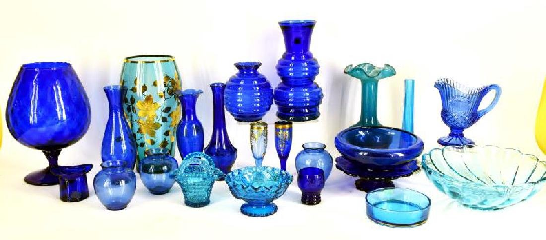 Large Collection Of Cobalt Blue Glassware