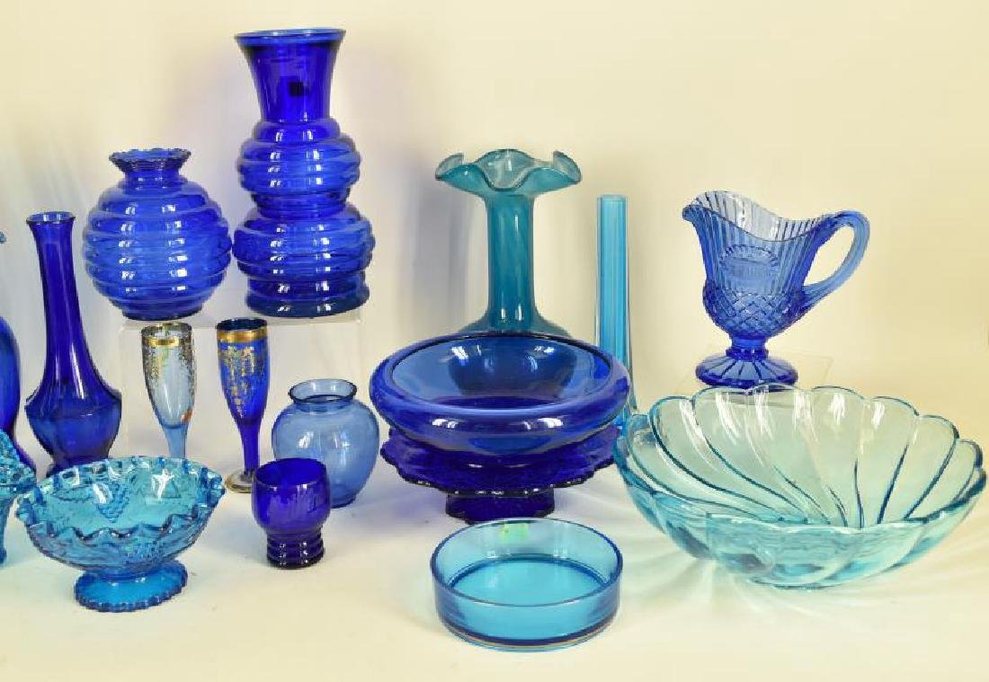 Large Collection Of Cobalt Blue Glassware - 2
