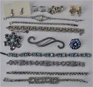 Collection Of Vintage Rhinestone Bracelets