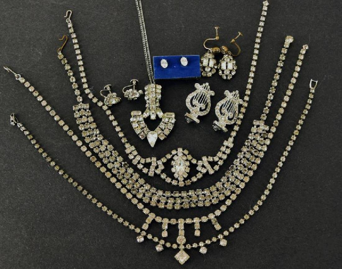 Collection Of Vintage Rhinestone Jewelry