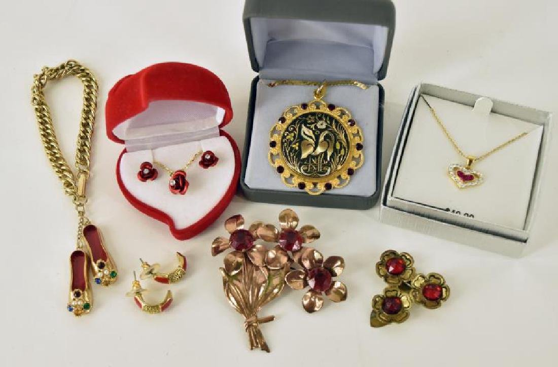 Collection Of Red And Gold Jewelry