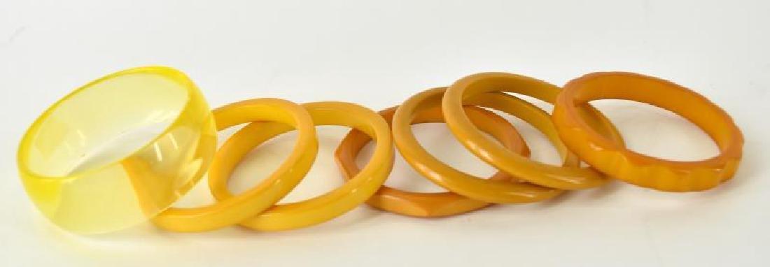 Six Bakelite Bangle Bracelets