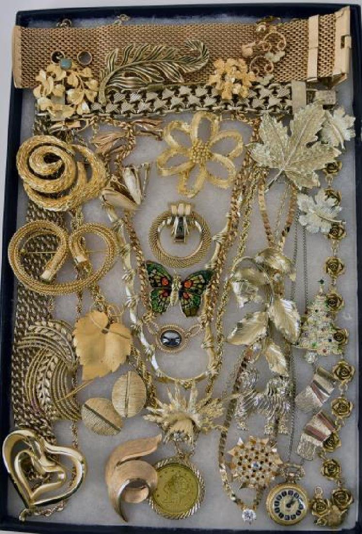 Collection Of Gold Costume Jewelry