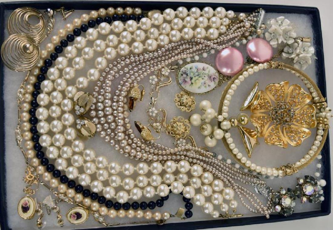 Collection Of Pearl Costume Jewelry