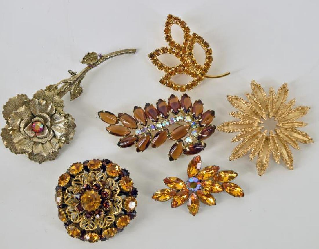 Collection Of Orange, Gold Brown Costume Jewelry - 2
