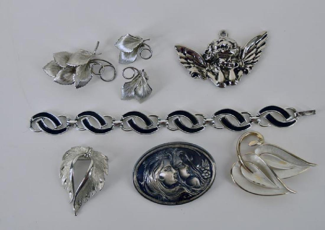 Large Collection Of Silvertone Jewelry - 2