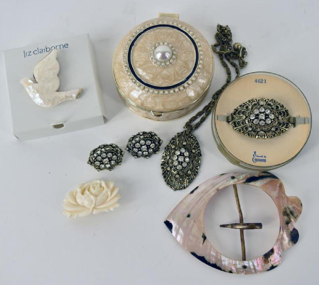 Emmons Jewelry Necklace, Bracelet , Clip Earrings