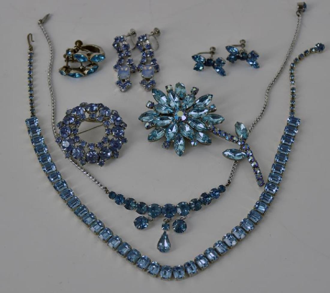 Blue Rhinestone Jewelry