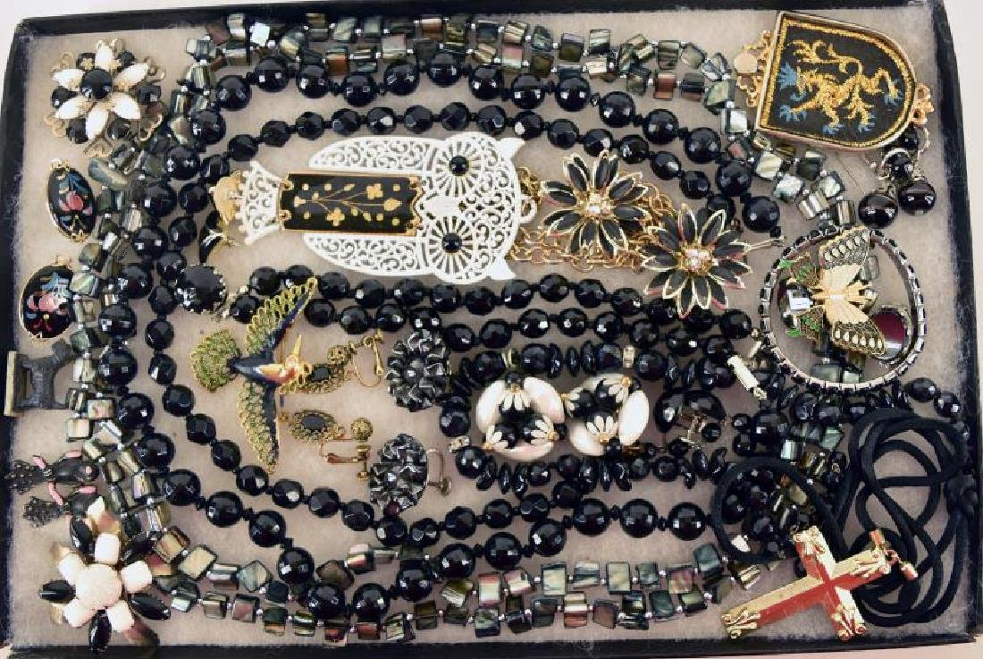 Collection Of Black Jewelry