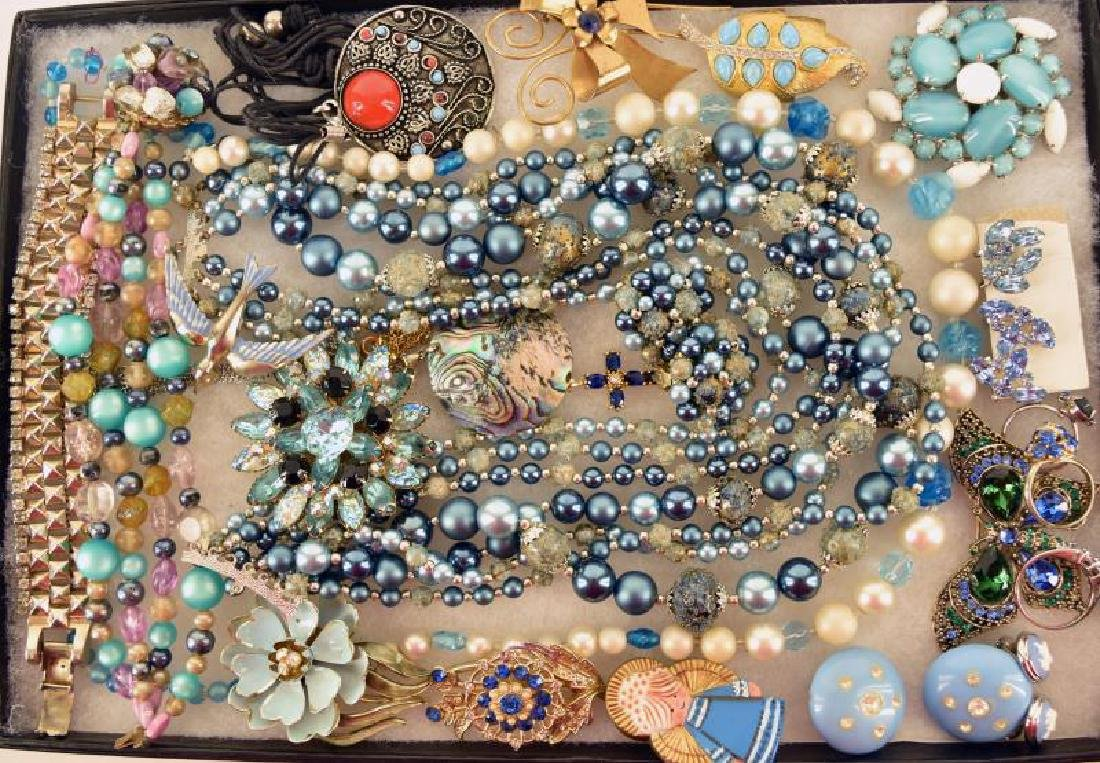 Collection Of Blue Costume Jewelry