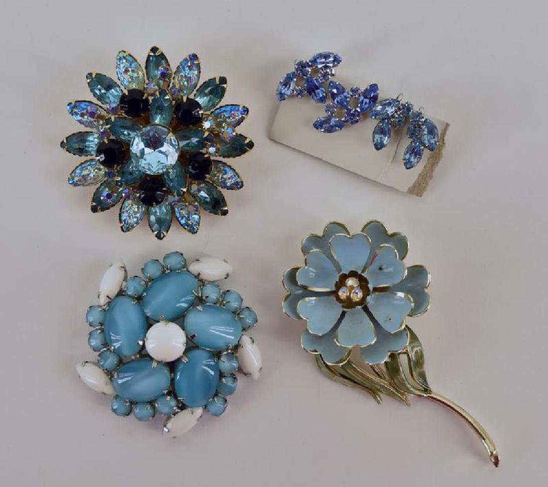 Collection Of Blue Costume Jewelry - 2