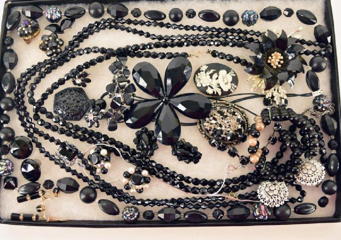 Collection Of Black Costume Jewelry