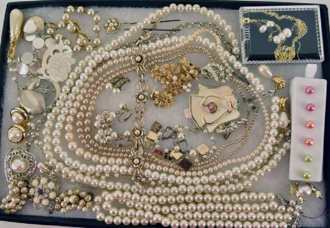 Collection Of Costume Pearl Jewelry