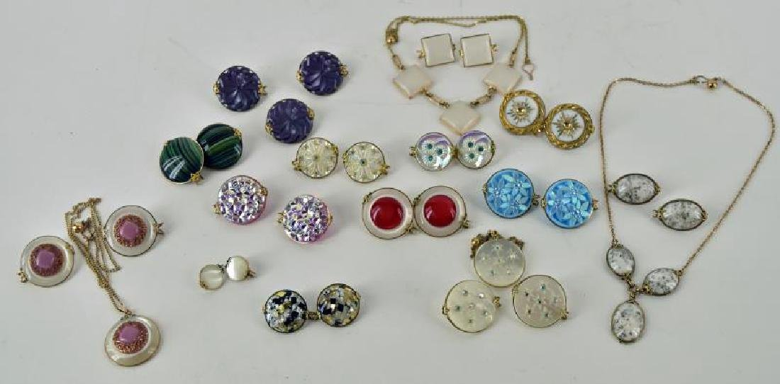 Collection Of Dress Clips And Necklaces