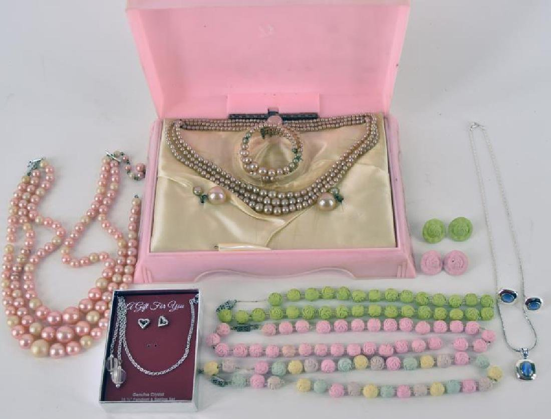 Collection Of Faux Pearl And Clay  Costume Jewelry