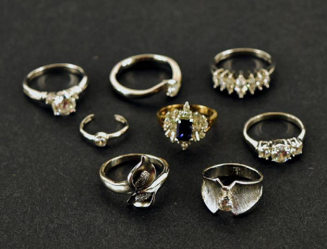 Collection Of Sterling And Cz Rings