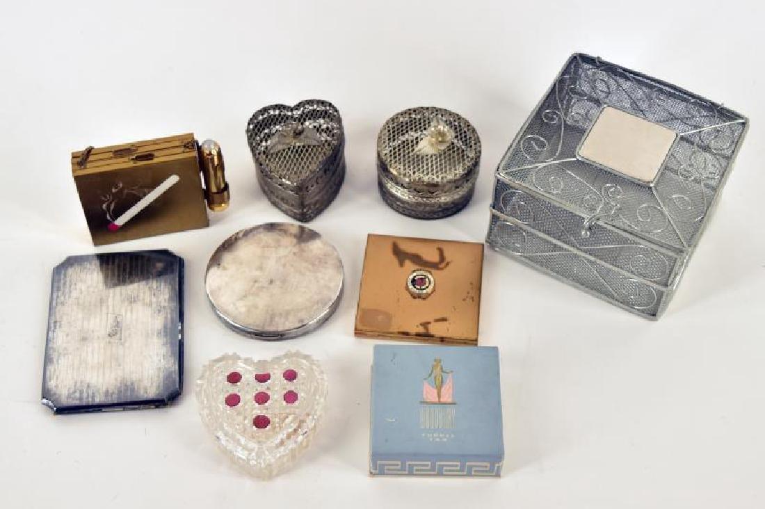 Woodbury Powder Box, Elgin Anniversary Compact