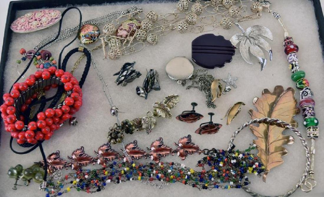 Collection Of Silvertone Jewelry