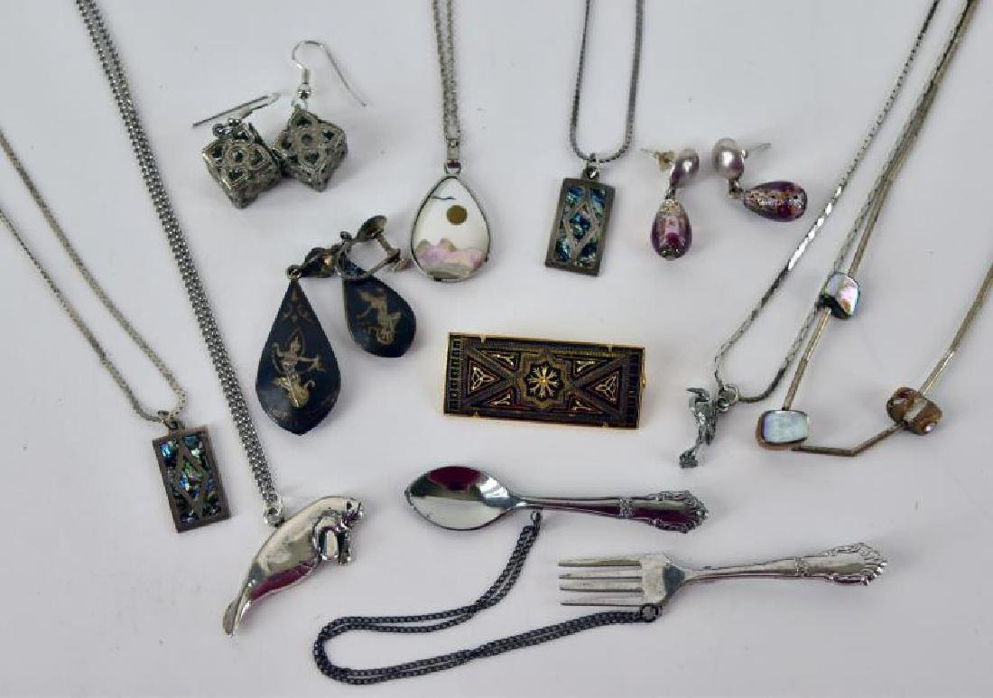 Collection Of Sterling And Silvertone Jewelry