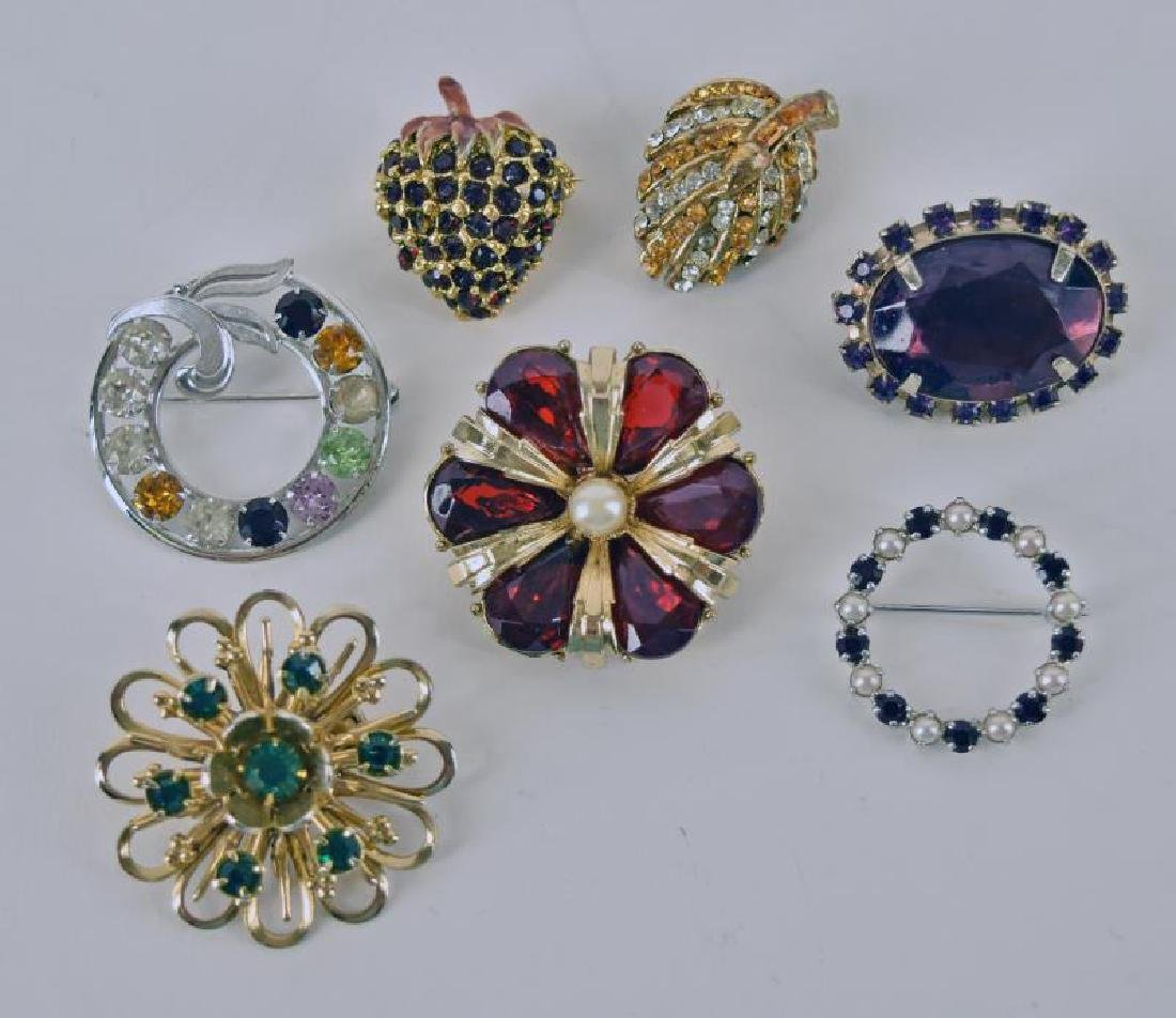 Collection Of Vintage Rhinestone Pins