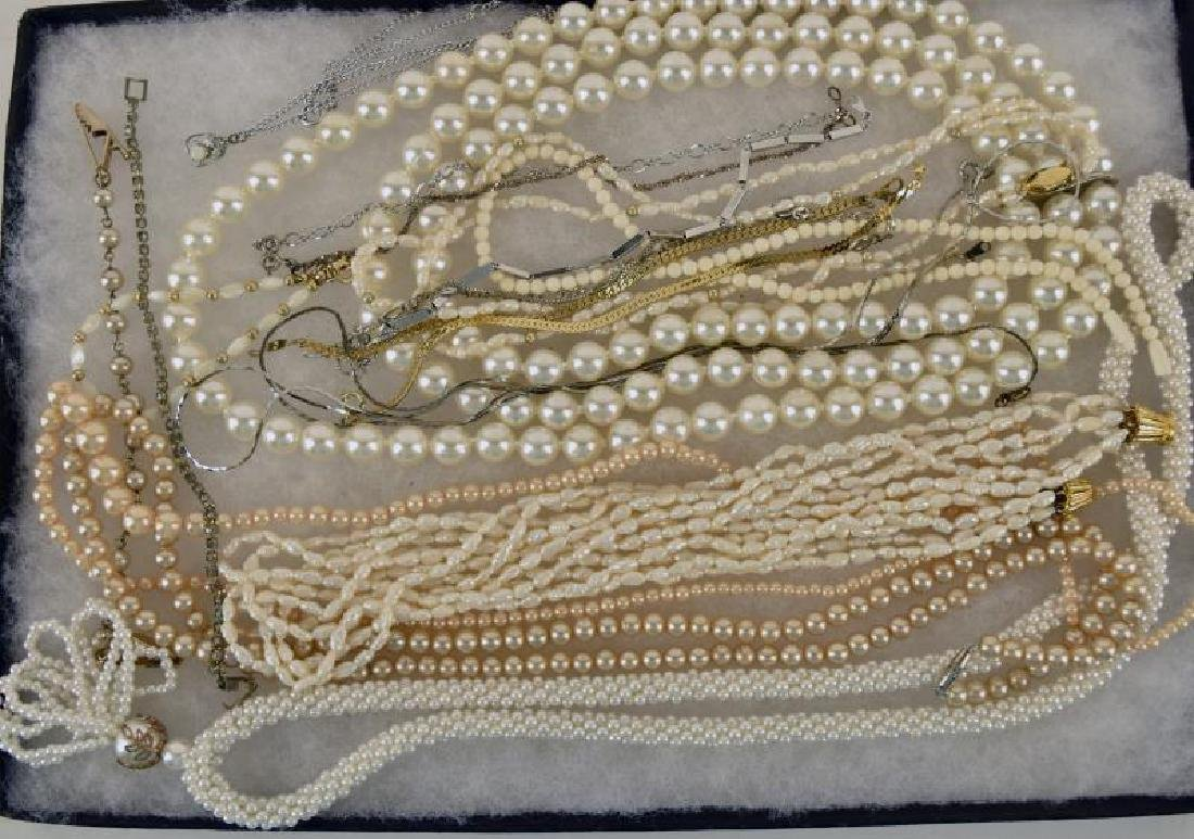 Group Of Fresh Water Pearls And Faux Pearls