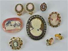 Collection Of Cameo Jewelry