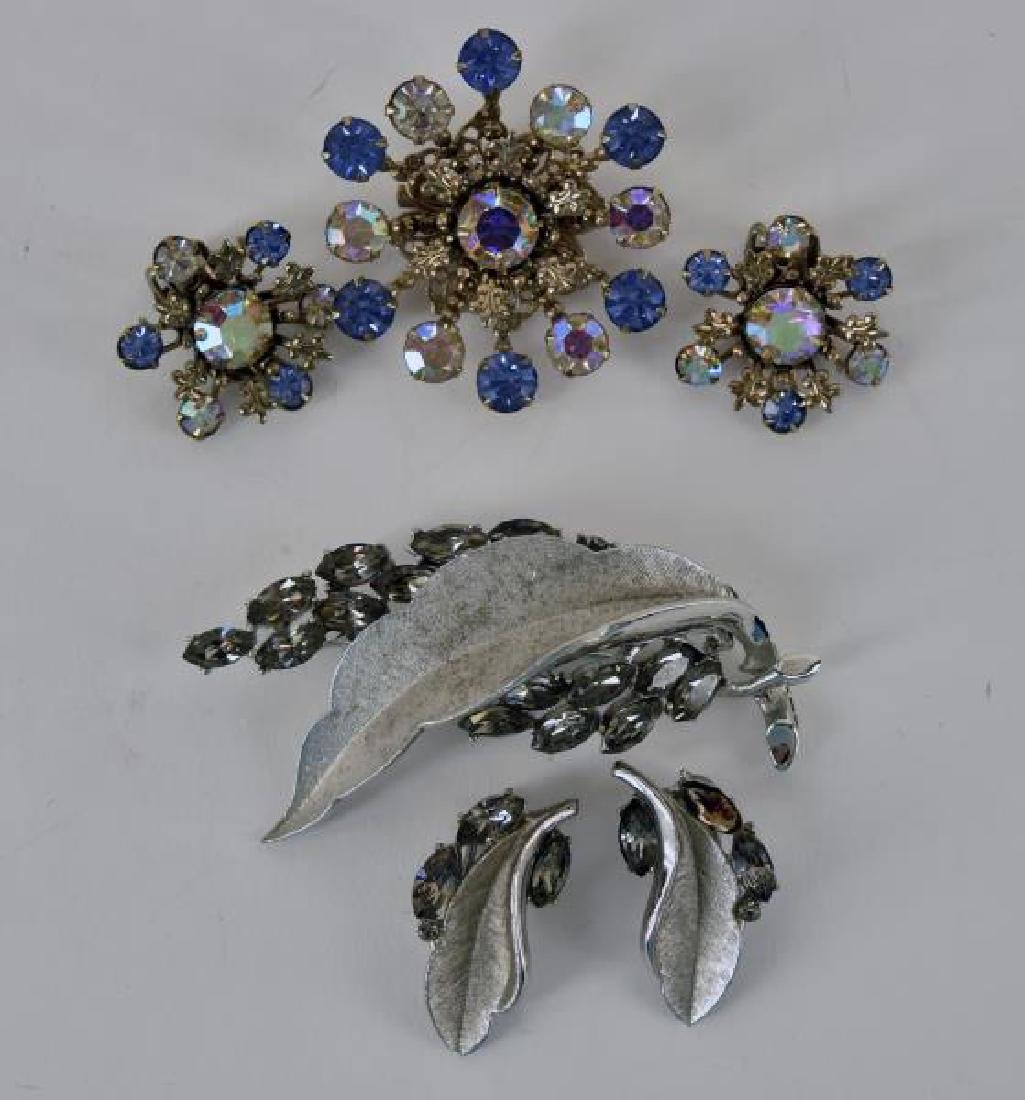 Demi-parure Pin And Earring Sets