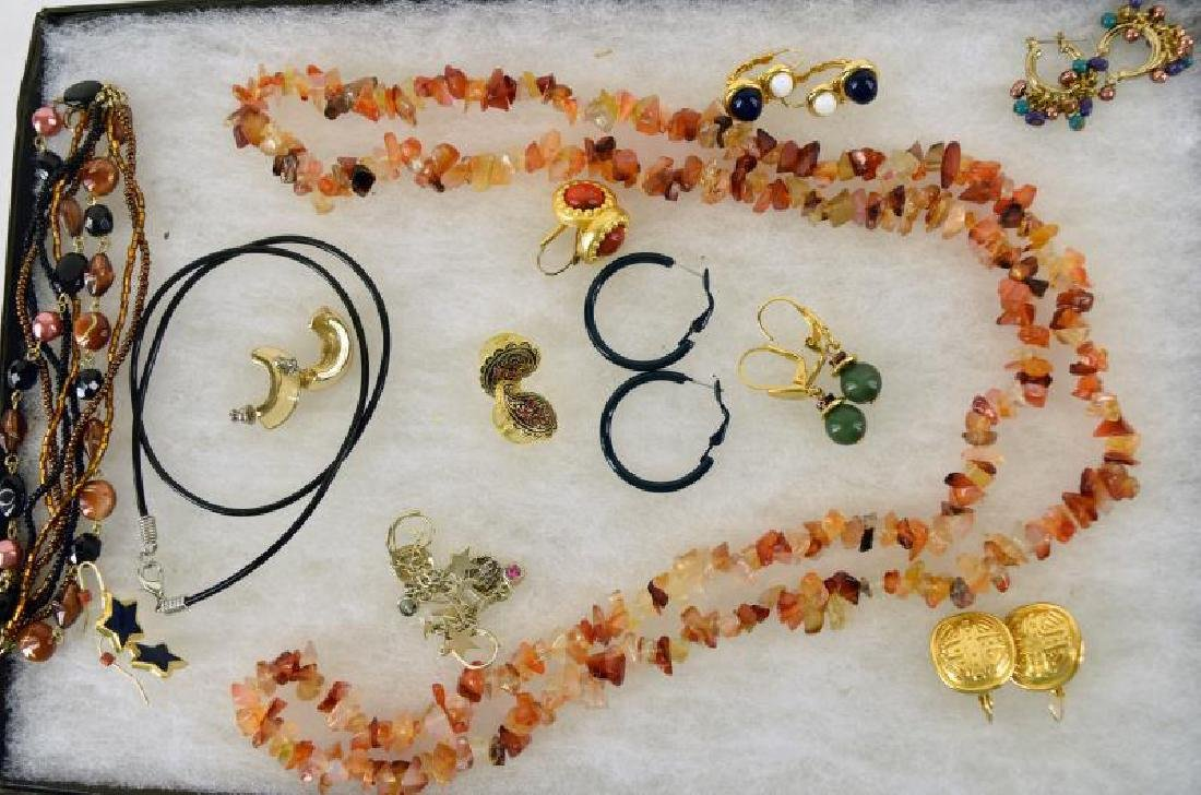 Group Of Goldtone & Stone Jewelry