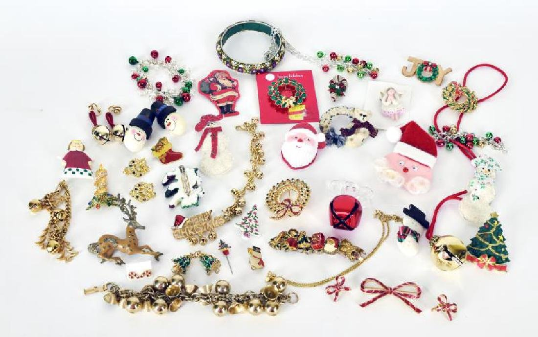 Large Collection Of Christmas Jewelry