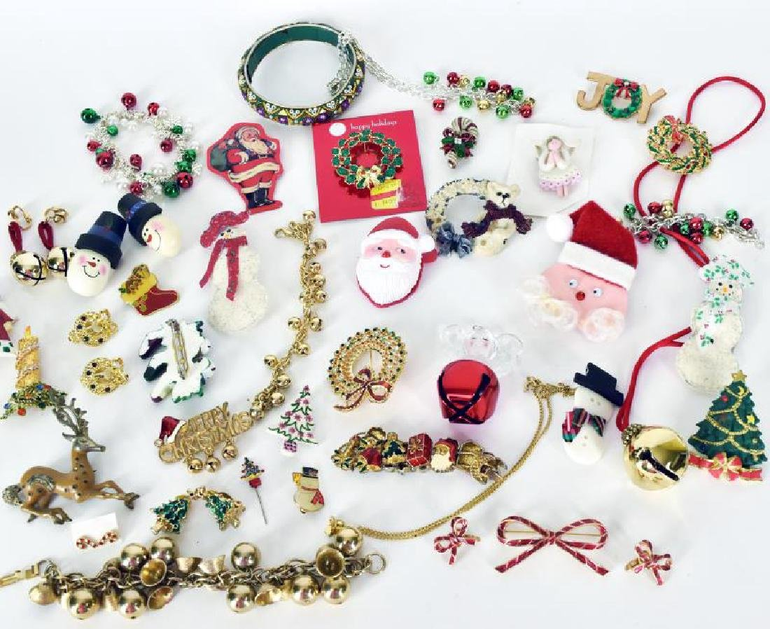 Large Collection Of Christmas Jewelry - 2