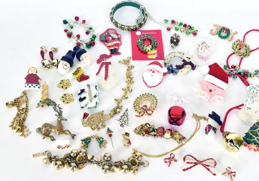 Large Collection Of Christmas Jewelry - 3