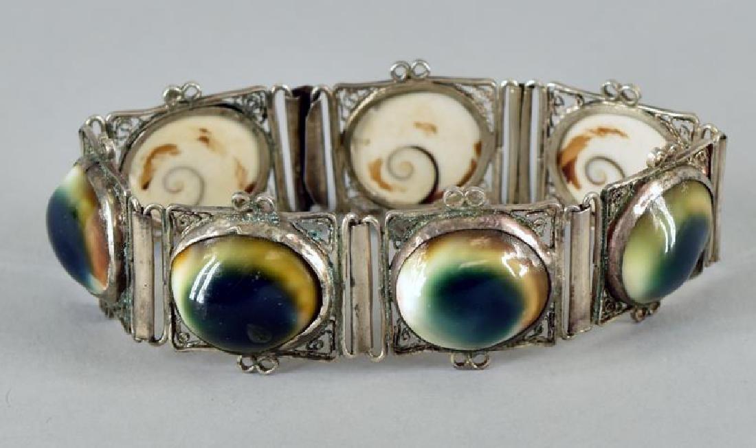 Vintage Operculum Cat's Eye Bracelet