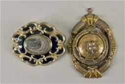 Victorian Locket & Mourning Pin