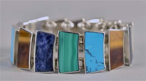 Sterling Silver Panel Bracelet