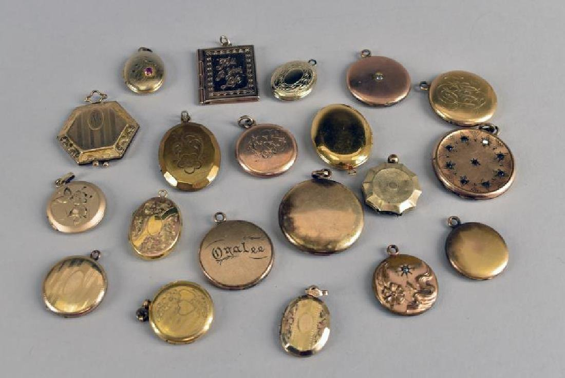 Collection Of Gold Filled Lockets