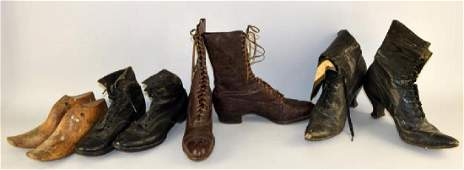 Three Pair Of Victorian Shoes