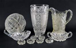 Collection Of American Brilliant Cut Glass