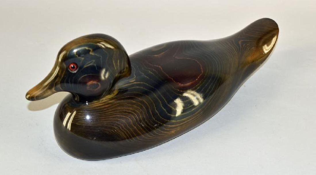 Ducks Unlimited Valerie Bundy Wood Carved Duck