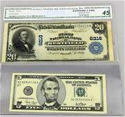 1902 $20 Westfield Illinois National Currency Note