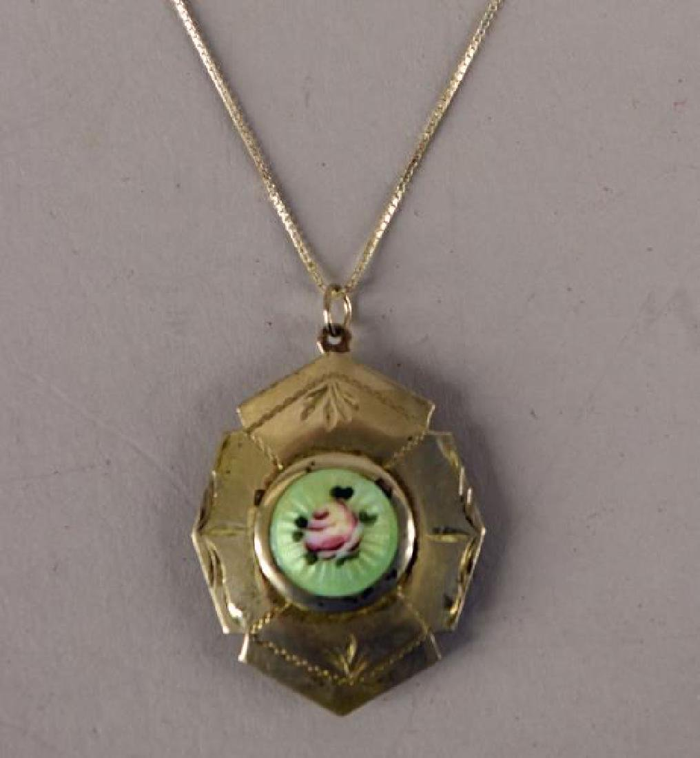 Victorian Sterling & Enamel Locket